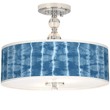 "Cool Reflections Giclee 16""W Semi-Flush Ceiling Light"