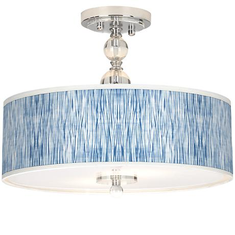 "Beachcomb Giclee 16"" Wide Semi-Flush Ceiling Light"