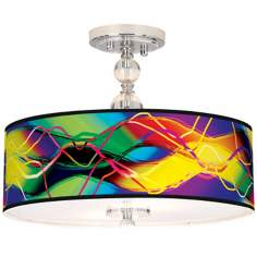 "Colors In Motion (Light) 16"" Wide Semi-Flush Ceiling Light"