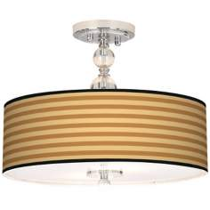 "Butterscotch Parallels 16"" Wide Semi-Flush Ceiling Light"