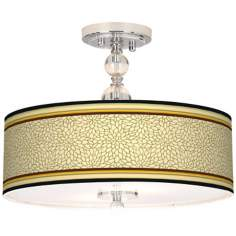 "Stacy Garcia Avocado Dahlia 16"" Semi-Flush Ceiling Light"