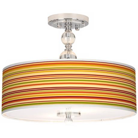 "Stacy Garcia Harvest Stripe 16"" Semi-Flush Ceiling Light"