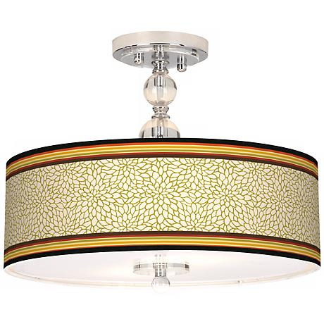 "Stacy Garcia Spice Dahlia 16"" Wide Semi-Flush Ceiling Light"