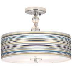 "Stacy Garcia Landscape Stripe 16"" Semi-Flush Ceiling Light"