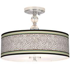 "Stacy Garcia Countess 16"" Wide Semi-Flush Ceiling Light"