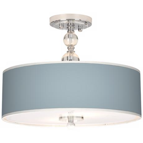 "Aqua Sphere Giclee 16"" Wide Semi-Flush Ceiling Light"