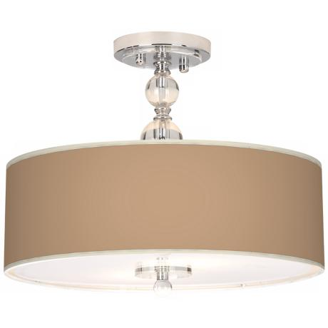 "Mesa Tan Giclee 16"" Wide Semi-Flush Ceiling Light"