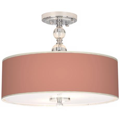 "Constant Coral Giclee 16"" Wide Semi-Flush Ceiling Light"