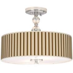 "Fawn Stripes Giclee 16"" Wide Semi-Flush Ceiling Light"