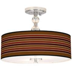 "Tones Of Sienna Giclee 16"" Wide Semi-Flush Ceiling Light"