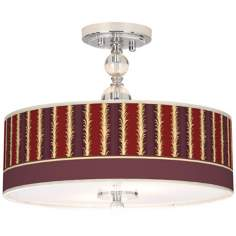 "Stacy Garcia Lexington Stripe Cinnamon 16"" Ceiling Light"