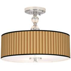 "Butterscotch Vertical 16"" Wide Semi-Flush Ceiling Light"