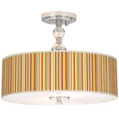 "Stacy Garcia Vertical Lemongrass 16"" Wide Ceiling Light"