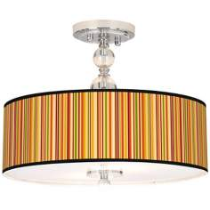 "Stacy Garcia Vertical Harvest Stripe 16"" Wide Ceiling Light"