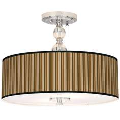 "Sorrel Vertical Giclee 16"" Wide Semi-Flush Ceiling Light"