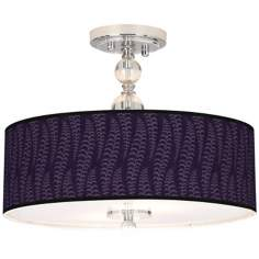 "Stacy Garcia Fancy Fern Rich Plum 16"" Wide Ceiling Light"