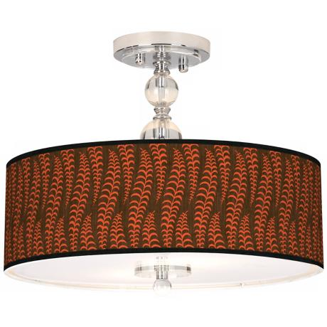 "Stacy Garcia Fancy Fern Coral 16"" Semi-Flush Ceiling Light"