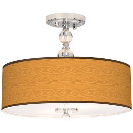 "Wood Grain Giclee 16"" Wide Semi-Flush Ceiling Light"