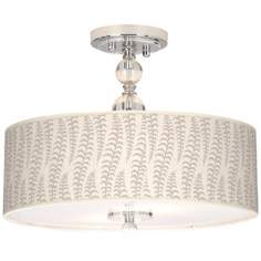 "Stacy Garcia Fancy Fern Ice 16"" Semi-Flush Ceiling Light"