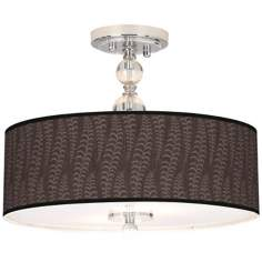 "Stacy Garcia Fancy Fern Taupe 16"" Semi-Flush Ceiling Light"