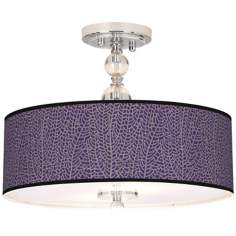 "Stacy Garcia Seafan Rich Plum 16"" Semi-Flush Ceiling Light"