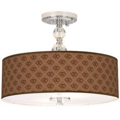 "West Bend Giclee 16"" Wide Semi-Flush Ceiling Light"