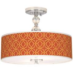 "Stacy Garcia Santorini Lattice Suns 16"" Wide Ceiling Light"