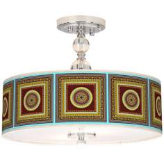 "Stacy Garcia Tiber Medallion Garnet 16"" Wide Ceiling Light"