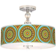 "Stacy Garcia Arno Mosaic Daybreak 16"" Wide Ceiling Light"