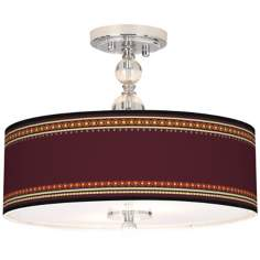 "Stacy Garcia Ebro Garnet 16"" Wide Semi-Flush Ceiling Light"
