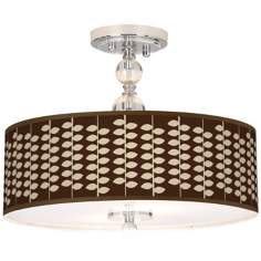 "Hi Fi Giclee 16"" Wide Semi-Flush Ceiling Light"