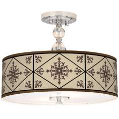 "Chambly Giclee 16"" Wide Semi-Flush Ceiling Light"