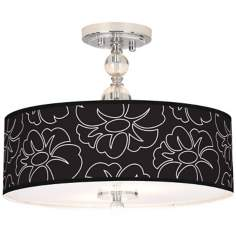 "Summer Silhouette Giclee 16"" Wide Semi-Flush Ceiling Light"