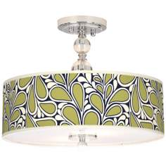 "Stacy Garcia Rain Metal 16"" Wide Semi-Flush Ceiling Light"