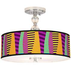 "Mambo Giclee 16"" Wide Semi-Flush Ceiling Light"