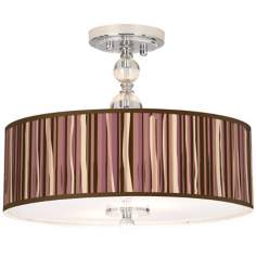 "Kalahari Lines Giclee 16"" Wide Semi-Flush Ceiling Light"
