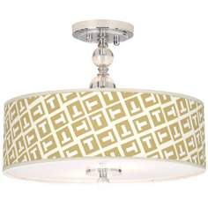 "Tee Tumble Giclee 16"" Wide Semi-Flush Ceiling Light"