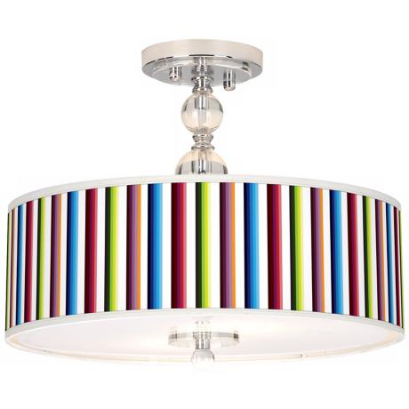 "Technocolors Giclee 16"" Wide Semi-Flush Ceiling Light"