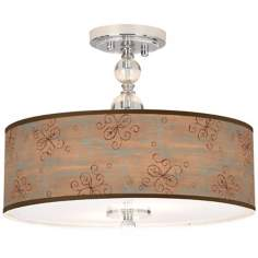 "Cedar Lake Giclee 16"" Wide Semi-Flush Ceiling Light"
