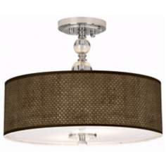 "Interweave Giclee 16"" Wide Semi-Flush Ceiling Light"
