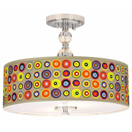 "Marbles in the Park Giclee 16"" Wide Semi-Flush Ceiling Light"
