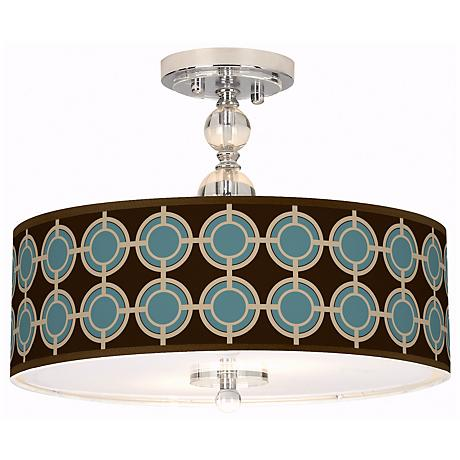 Stacy Garcia Porthole Giclee Semi-Flush Ceiling Light