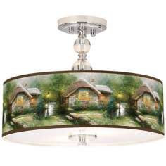 "Thomas Kinkade Collector's Cottage 16"" Ceiling Light"