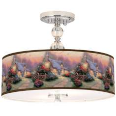 "Thomas Kinkade Glory of Evening 16"" Ceiling Light"