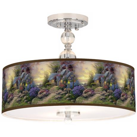 "Thomas Kinkade Seaside Hideaway 16"" Ceiling Light"