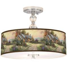 "Thomas Kinkade A Peaceful Time 16"" Ceiling Light"