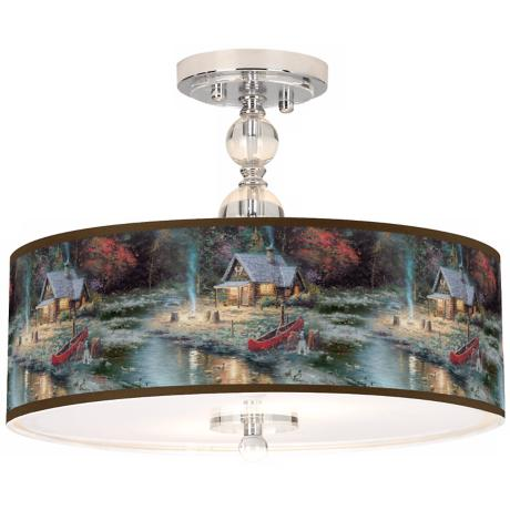 Thomas Kinkade The End Of A Perfect Day II Ceiling Light