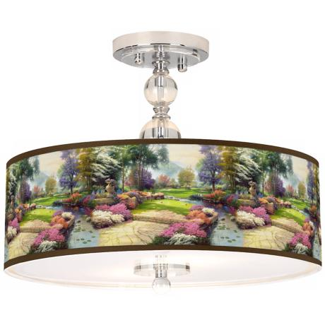 "Thomas Kinkade Living Waters Golfer's Paradise 16"" Light"