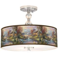 "Thomas Kinkade Nature's Paradise 16"" Ceiling Light"