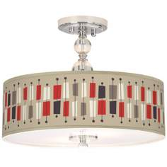 "Bounce Giclee 16"" Wide Semi-Flush Ceiling Light"